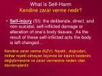 what is self harm kendine zarar verme nedir