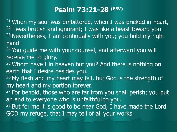 Psalm 73:21-28