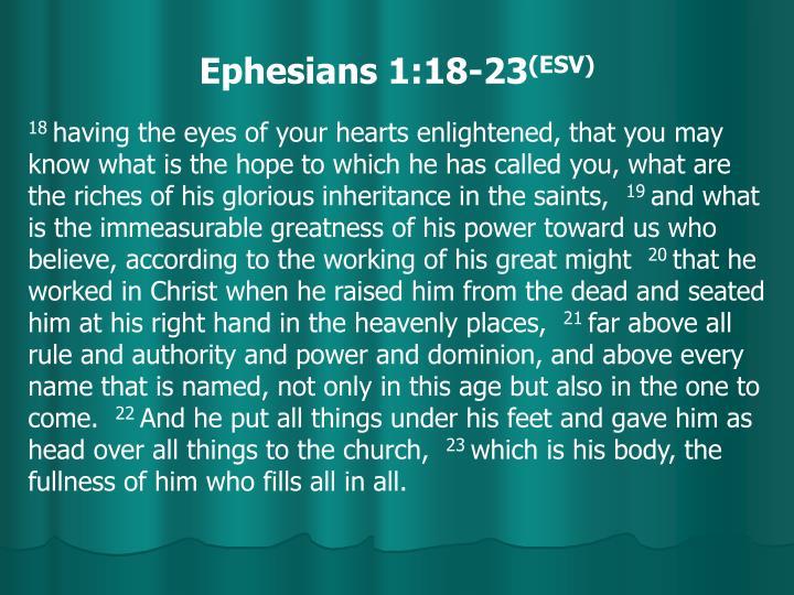Ephesians 1:18-23