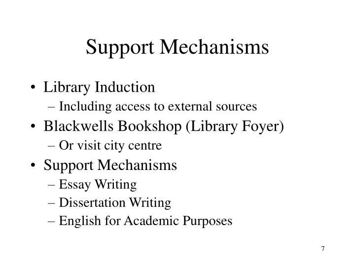 Support Mechanisms