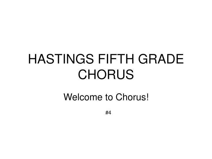 Hastings fifth grade chorus