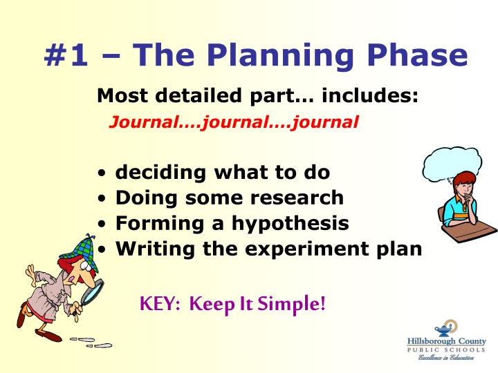 #1 – The Planning Phase