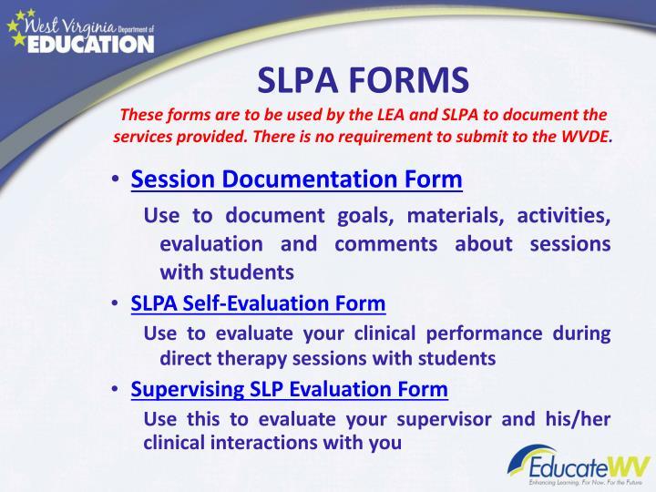 SLPA FORMS