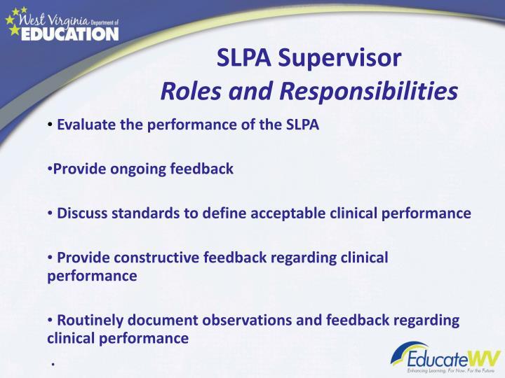 SLPA Supervisor