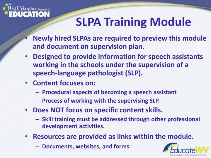 Slpa training module