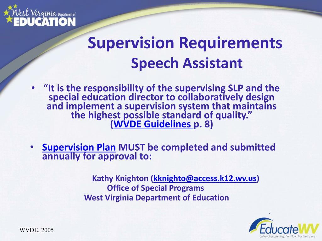 speech supervision language assistant slpa requirements slp pathology roles responsibilities assistants module training supervising ppt powerpoint presentation
