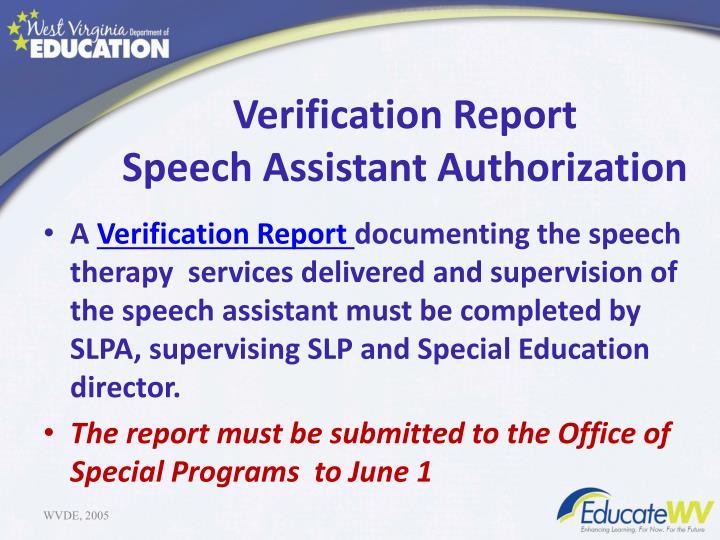 Verification Report