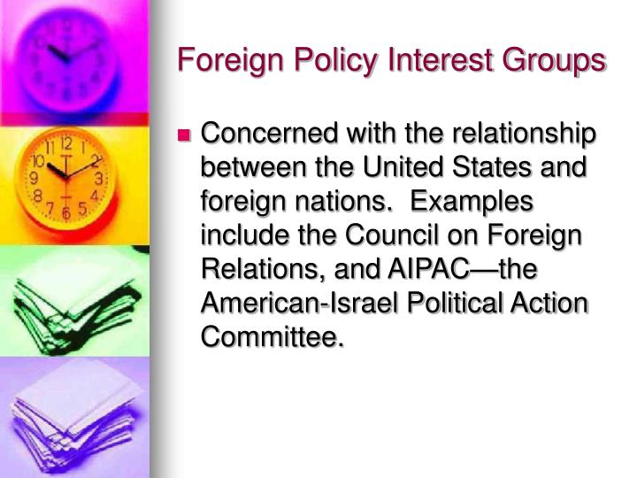 Foreign Policy Interest Groups