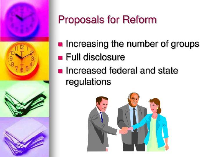 Proposals for Reform