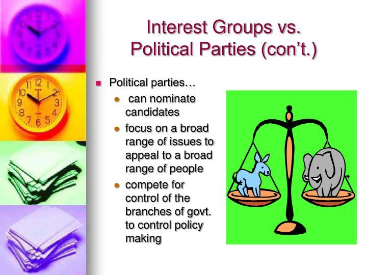 Interest Groups vs.