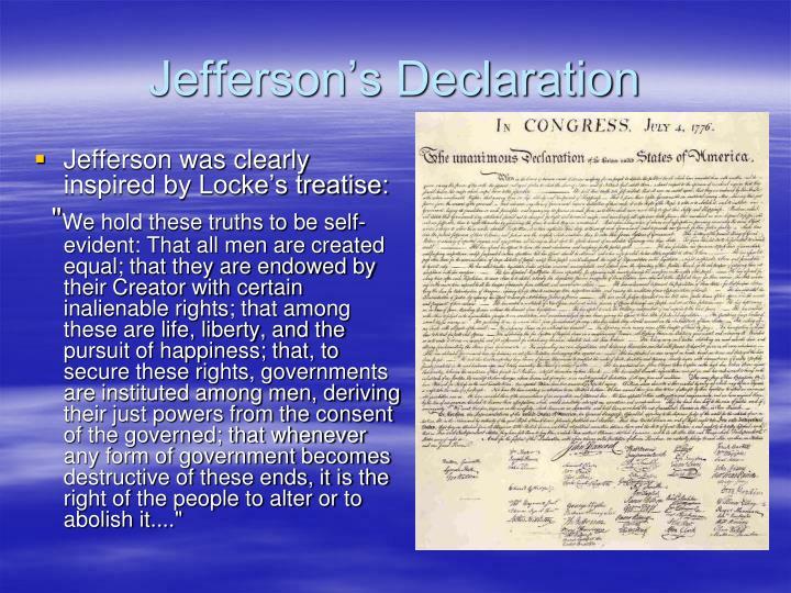 Jefferson's Declaration
