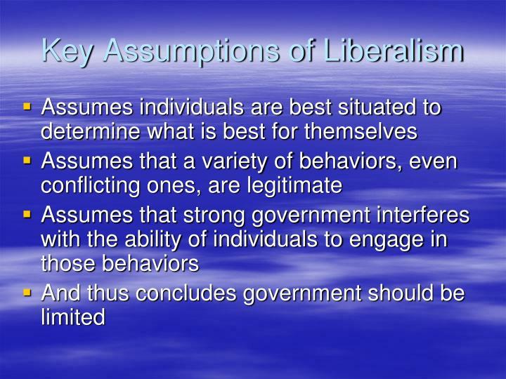Key Assumptions of Liberalism