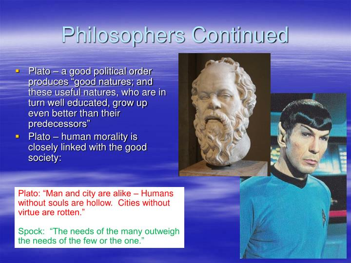 Philosophers Continued