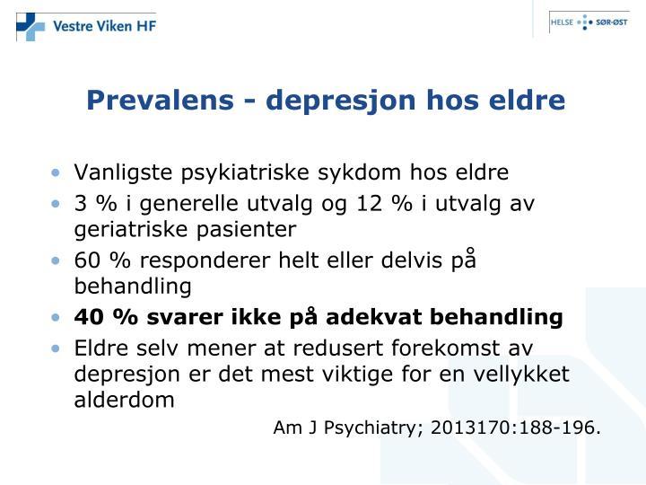 Prevalens depresjon hos eldre