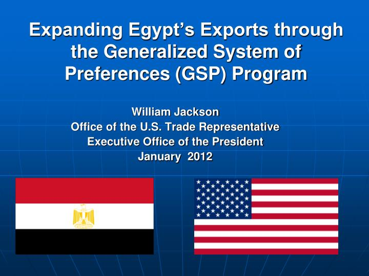the generalized system of preferences Home / issue areas / preference programs / generalized system of preferences (gsp) gsp in use – country specific information country specific information.