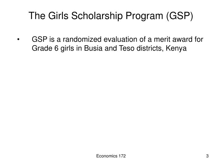 The girls scholarship program gsp