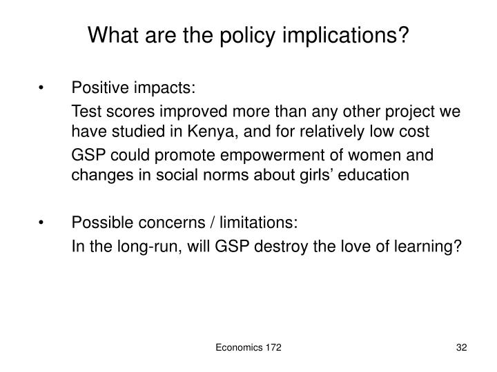 What are the policy implications?
