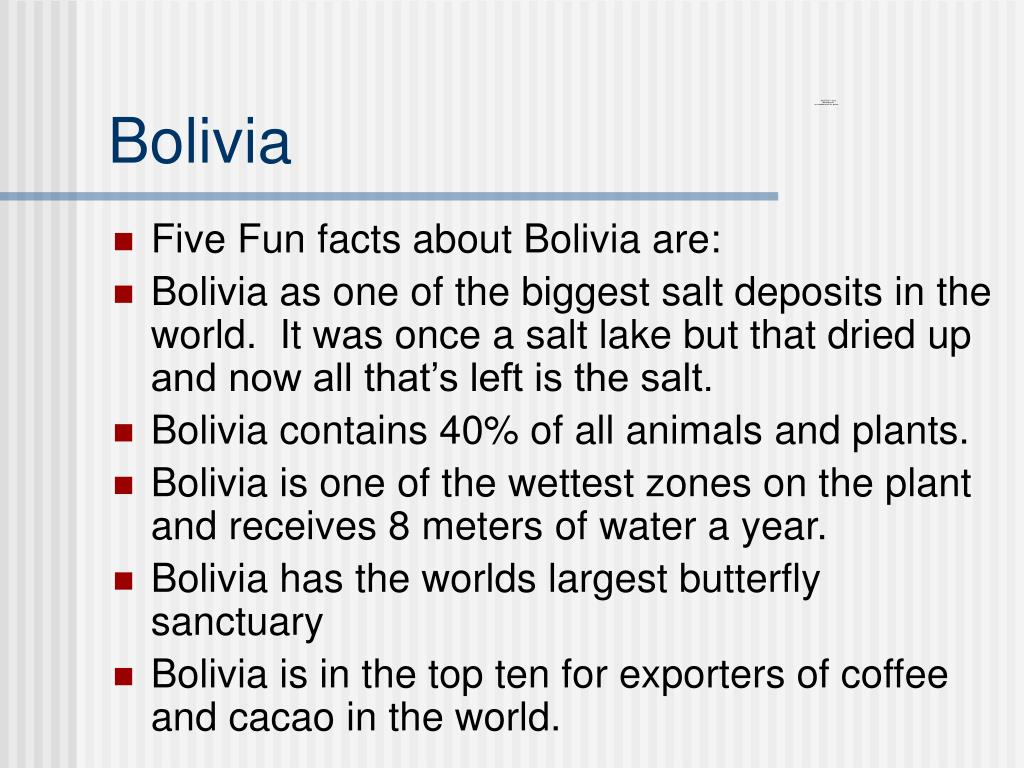 Ppt Bolivia Powerpoint Presentation Free Download Id 5360930