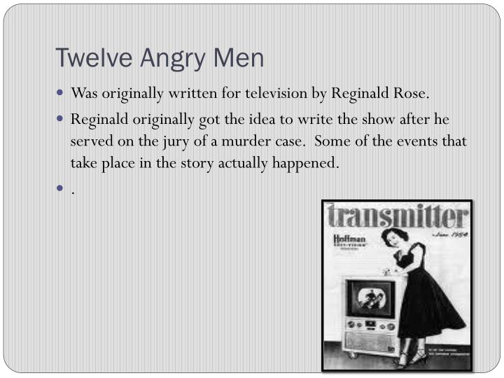 the lack of understanding of juror three in twelve angry men a play by reginald rose Twelve angry men was originally written by reginald rose in 1954 as a teleplay for the cbs series studio one three years later, rose adapted the piece to the big screen, casting henry fonda as juror no 8.