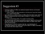 suggestion 3