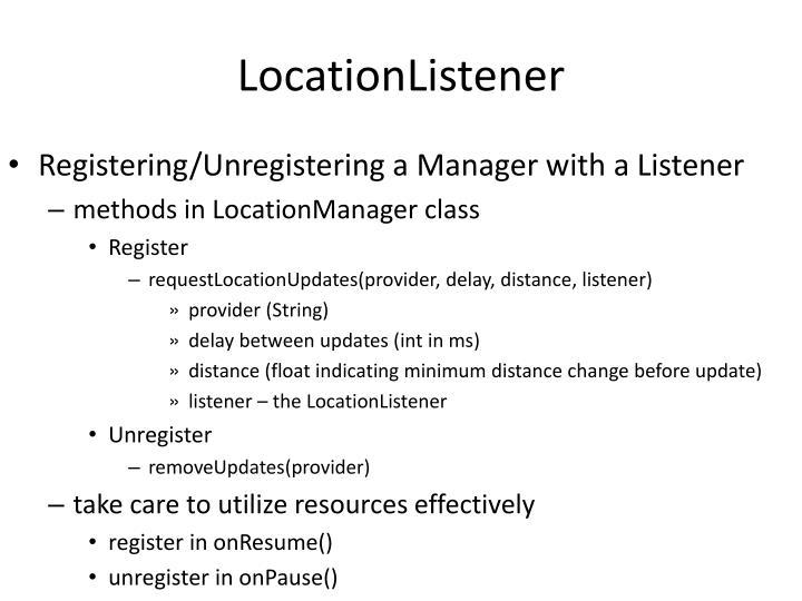 LocationListener