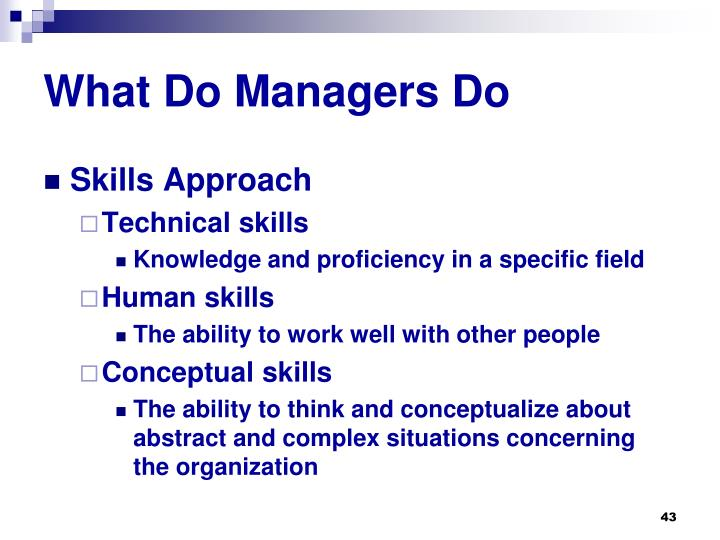 What Do Managers Do