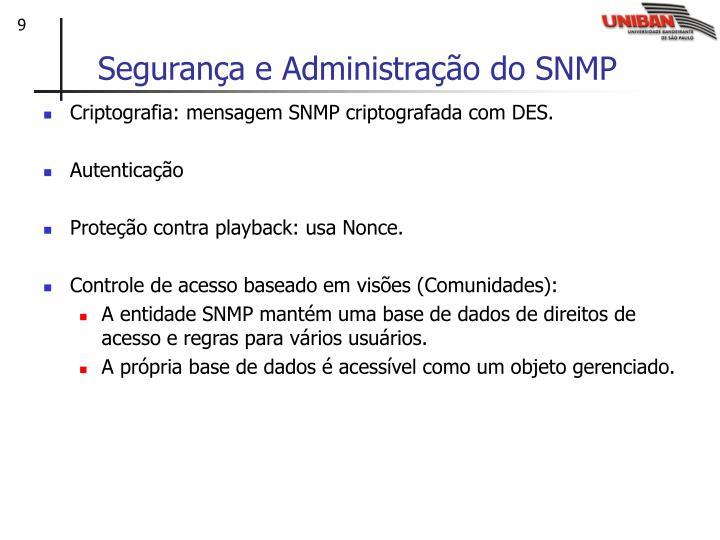 Segurança e Administração do SNMP