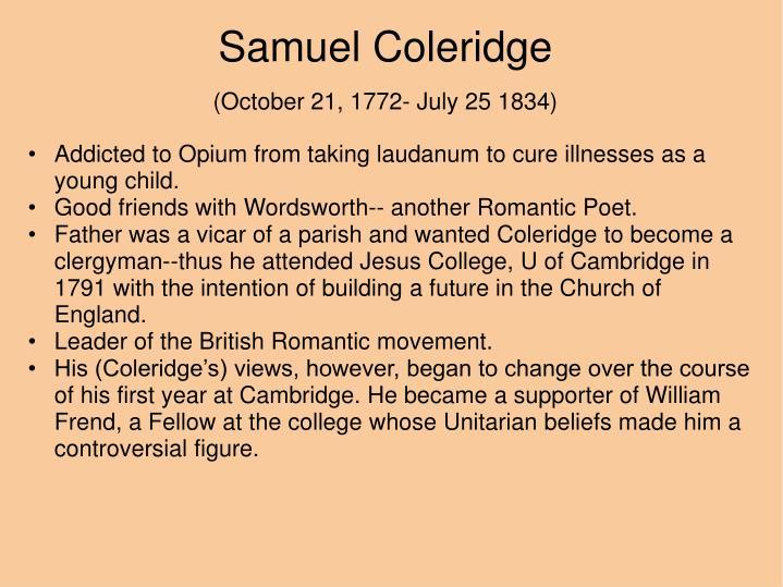 s t coleridge romantic movement essay Similar documents to romanticism essay- coleridge 31 pages texts and ways of short analysis of coleridge's poems about romanticism.