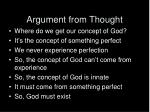 argument from thought
