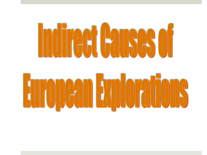 Indirect Causes of