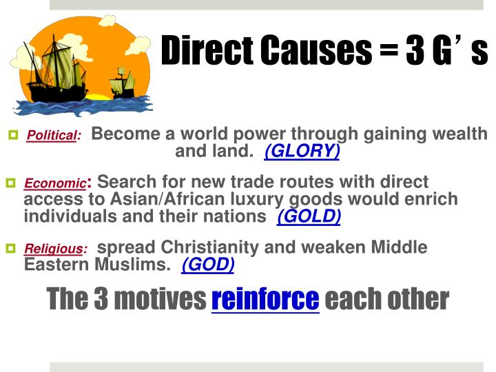 Direct Causes = 3 G