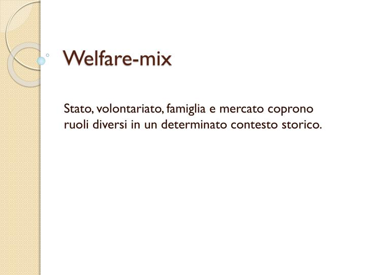 Welfare-mix
