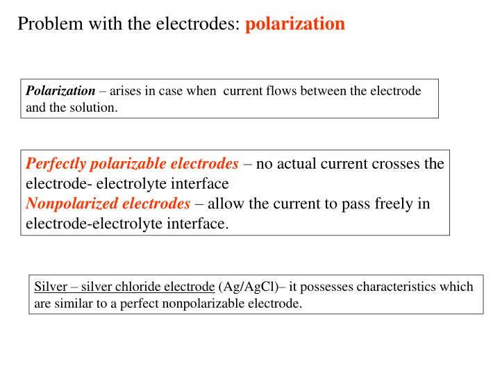 Problem with the electrodes: