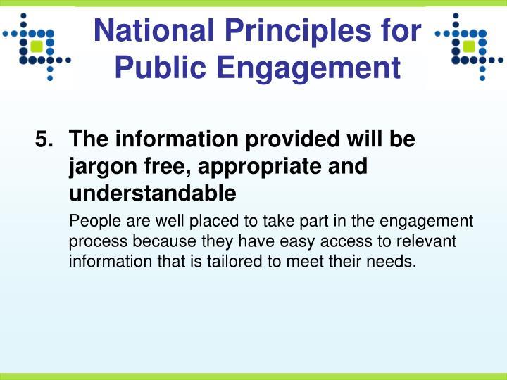 National Principles for Public Engagement