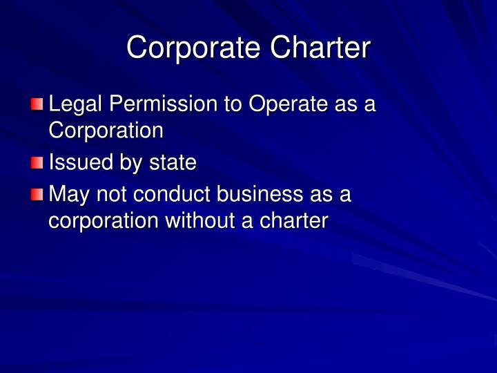 Corporate Charter