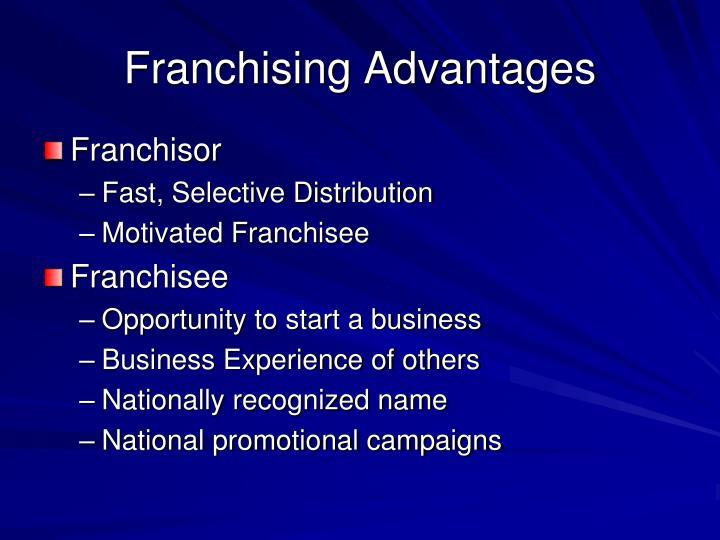 Franchising Advantages