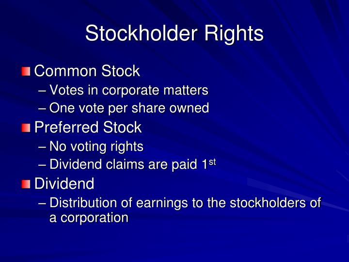 Stockholder Rights