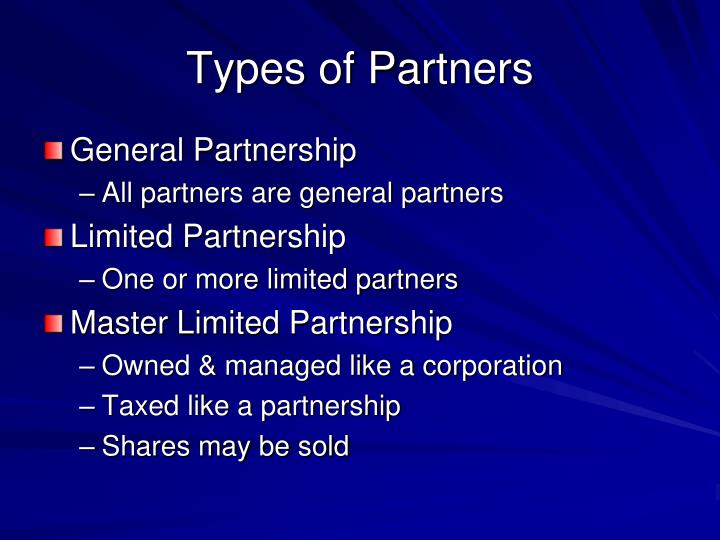 Types of Partners