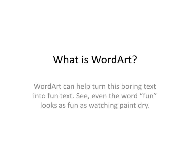 what is wordart n.