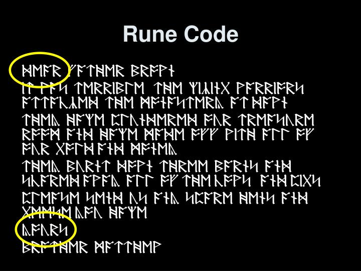 Rune Code
