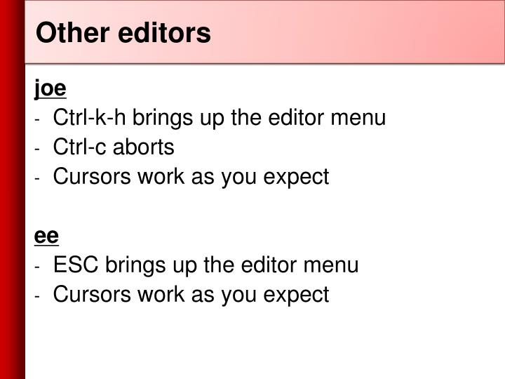 Other editors