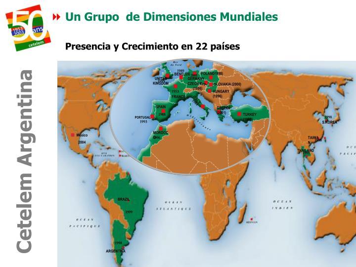 Un Grupo  de Dimensiones Mundiales