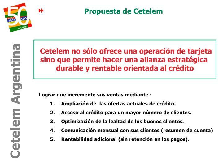 Propuesta de Cetelem