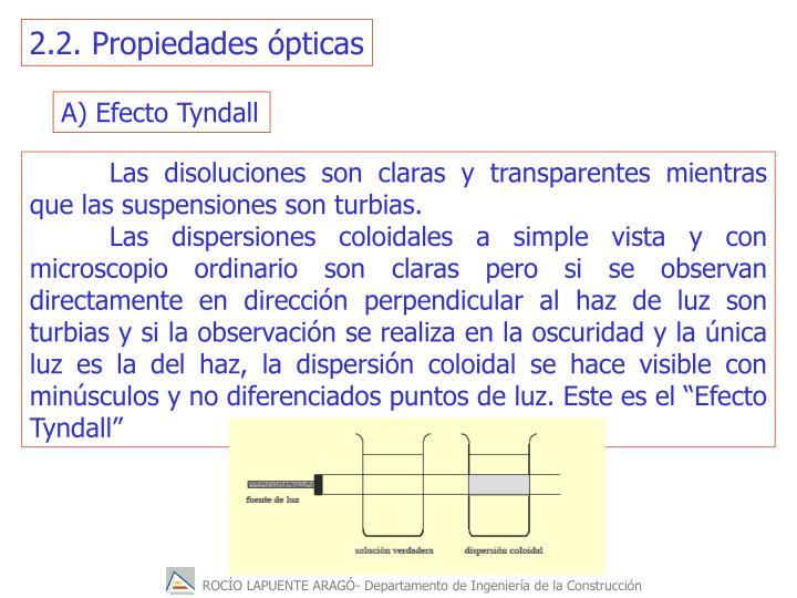 2.2. Propiedades ópticas
