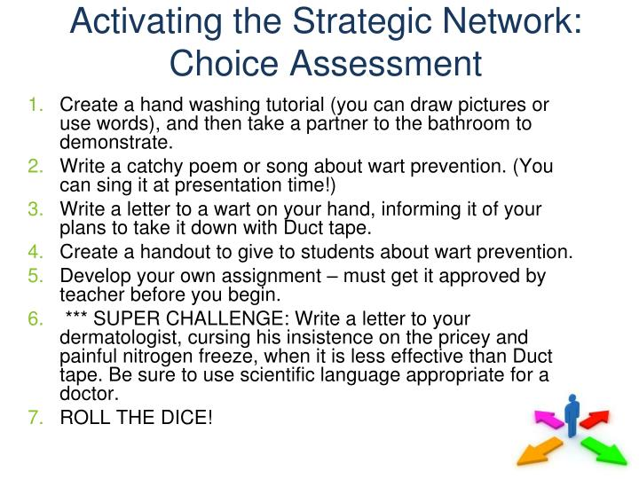 Activating the Strategic Network: Choice Assessment