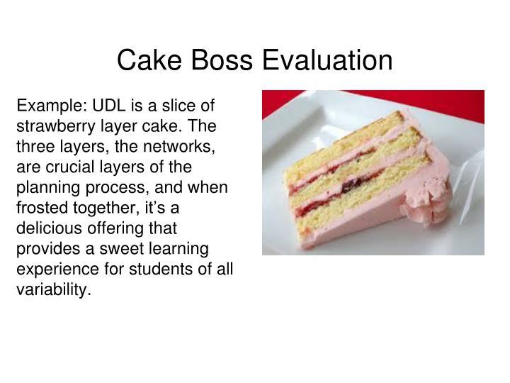 Cake Boss Evaluation