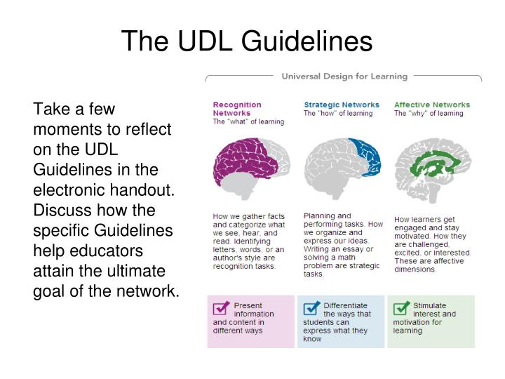 The udl guidelines