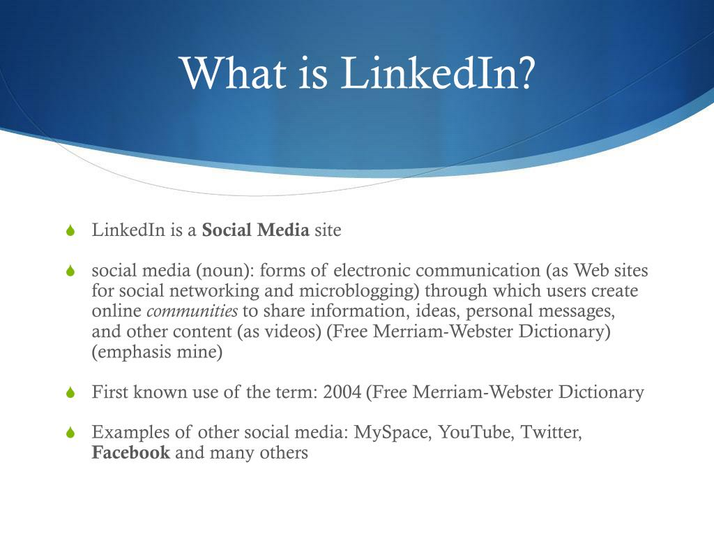 PPT - What is LinkedIn? PowerPoint Presentation - ID:5362090
