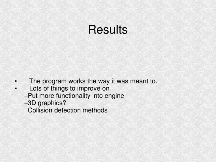 The program works the way it was meant to.