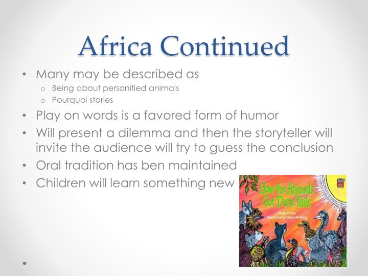 Africa Continued